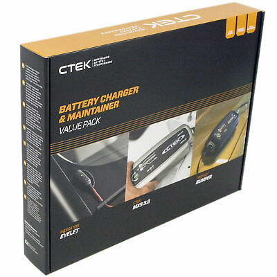 CTEK MXS 3.8 Battery Charger / Indicator Eyelet & FREE Protect Bumper