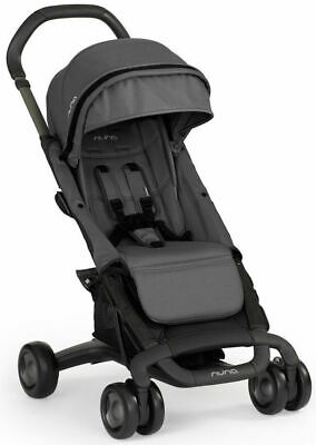 Nuna Baby Pepp Compact Flat Fold Three Position Recline Stroller Graphite NEW