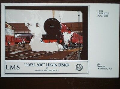 Postcard Lms  Lineside Poster - Royal Scot Leaves Euston