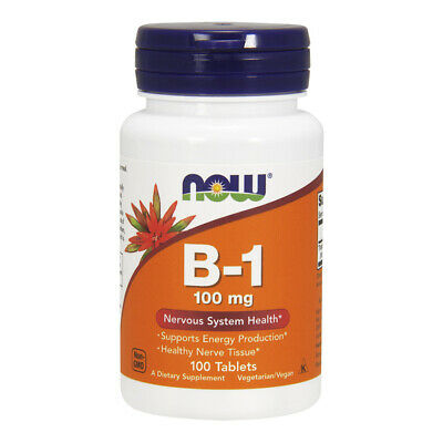 NOW FOODS  Vitamin B-1, (Thiamine), 100mg 100 tablets - VITAMINE