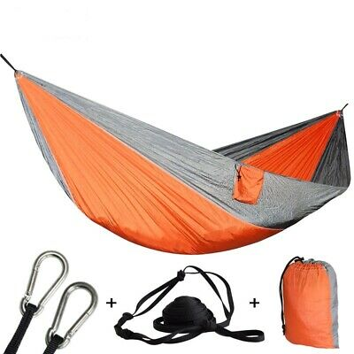 Hammock Double Person Camping Outdoor Travel Parachute Swing Heavy Duty Portable