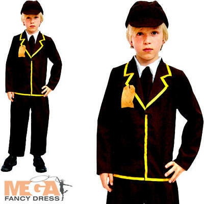 Wartime Boys Fancy Dress 1940s 40s WW2 Historical Book Day Kids Costume Outfit