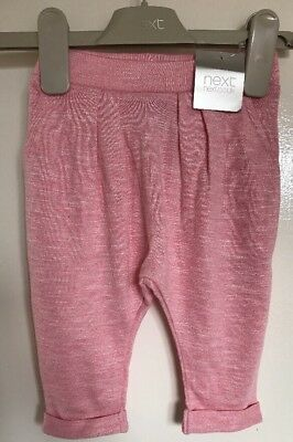 BNWT Next Baby Girls Pink Hareem Trousers. Age 3-6 Months