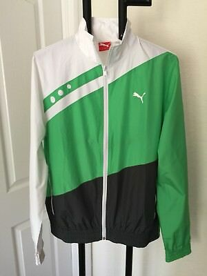 Puma Sport Lifestyle Wonderful Zipper Front Windbreaker Jacket Sm