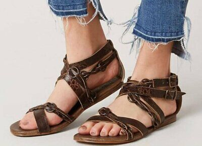 773c4ad23e2b New Roan By Bed Stu Womens Brown Rustic Gretch Leather Strappy Sandals Shoes  9