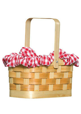 Red Riding Hood Gingham Basket Handbag