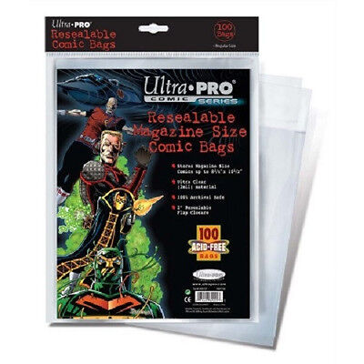 500 Ultra Pro Magazine Resealable Storage Bags and  Boards New Factory Sealed