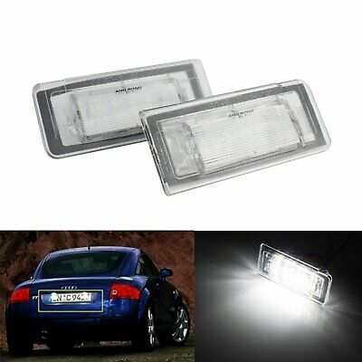 SMD LED License Number Plate Light Lamps For Audi TT MK1 8N 1999-2006 No Error