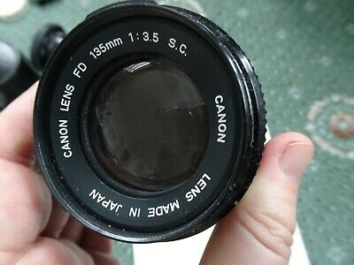 Canon Lens FD 135mm 1:35 Made in Japan. Very Good Condition.