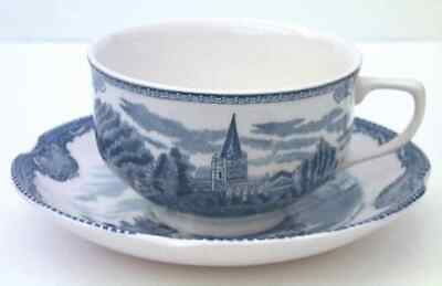 Johnson Brothers OLD BRITAIN CASTLES BLUE (MADE IN ENGLAND) Cup & Saucer 6473005