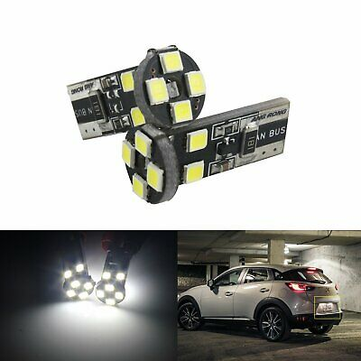 2x 501 T10 W5W 147 8 SMD LED Bulb Side Indicator License Number Plate Light Lamp