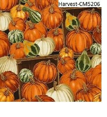 Fall Harvest Pumpkins & Guards cotton quilt fabric Timeless Treasures BTY