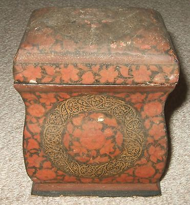 Playing Card Box Antique Wooden