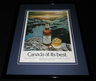 1975 Canadian Mist Imported Whisky Framed 11x14 ORIGINAL Advertisement