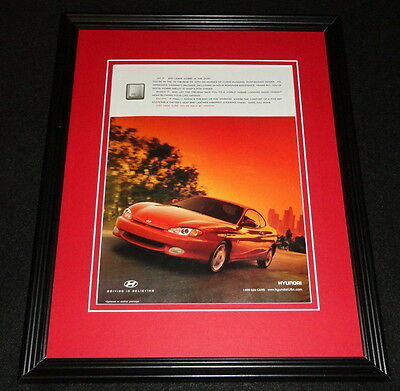 1998 Hyundai Tiburon FX Framed 11x14 ORIGINAL Advertisement