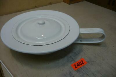 2402.  Alter Email Nachttopf Emaille Nachttopf   Old Enamelware Chamber Pot