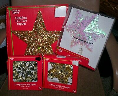 Holiday Style Star Christmas Tree Topper Choose From 4 Styles Free Ship New