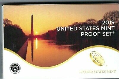 2019-S Proof Set US Mint Cameo Clad 10 Coins w BOX COA