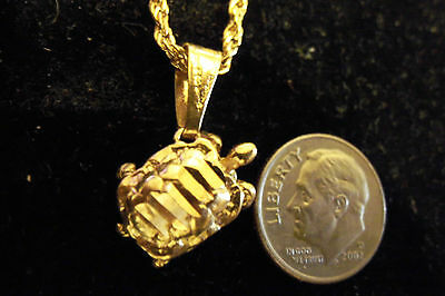bling gold plated MYTH turtle FASHION pendant charm hip hop necklace JEWELRY GP