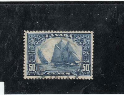 CANADA # 158 VF-EXTREMELY LIGHT USED 50cts BLUENOSE