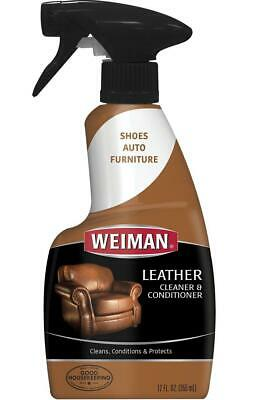 Weiman Leather Cleaner and Conditioner UV Protection Help Prevent Cracking