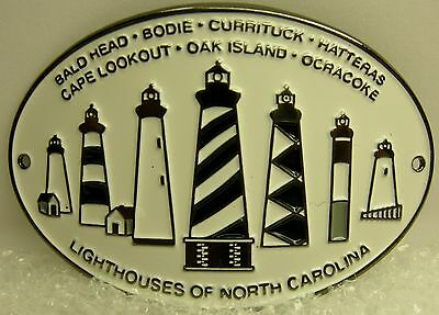 Lighthouses of North Carolina new badge mount stocknagel hiking medallion G0063