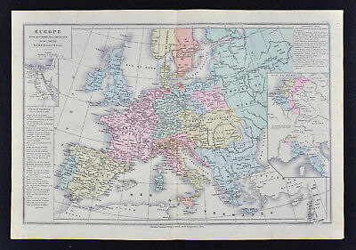 Map Of France Holland And Germany.1885 Drioux Map Europe French Empire France Germany Italy Austria Spain Holland