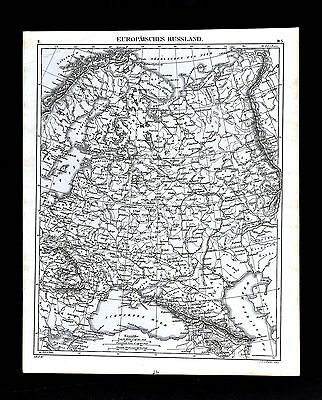 1849 Bilder Atlas Map Russia Finland Poland Norway Moscow St. Petersburg Europe
