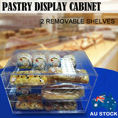 3 Tier Large Bakery Donut Pastry Cupcake Clear 5mm Acrylic Display Cabinet AUS