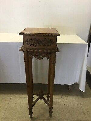 Victorian Carved Hand Made Mahogany Wood Table Stand
