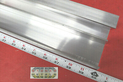 """4 Pieces 2-1/4"""" x 1"""" x 1/8"""" Wall 6061 T6 ALUMINUM CHANNEL 60"""" long Mill Stock"""