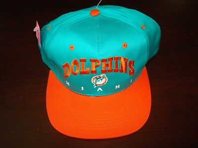 bf590963f VINTAGE 90S MIAMI Dolphins Signature Snapback Hat Cap Vtg 80s Rare ...