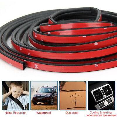 10M B-Shape Trim Rubber Strip Universal Car Door Edge Seal Hollow Weather-strip