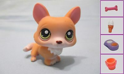 Littlest Pet Shop Dog German Shepherd 92 Free Accessory Authentic Lps Exclusive