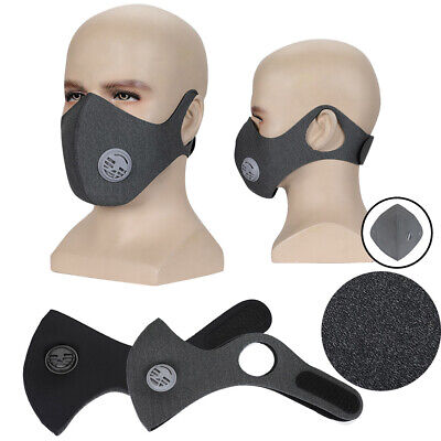 Men Women Anti Smoke Dust Air Purifying Face Mask Activated Carbon Filter Mask