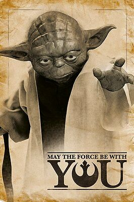 STAR WARS (YODA, MAY THE FORCE BE WITH YOU) PP33690 MAXI POSTER 61cm x 91.5cm