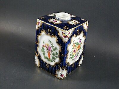 Antique English First Period Dr Wall Worcester Porcelain Tea Caddy Circa 1770