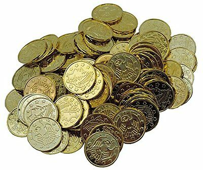 GOLD DOUBLOONS PLASTIC Pirate Treasure Pirate Coins Pirate Toy Money