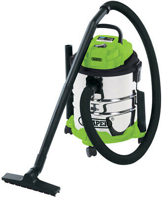 Draper 35569 | 20L Wet and Dry Vacuum Cleaner with Stainless Steel Tank (1250W)