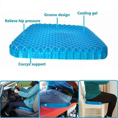 Gel Honeycomb Seat Cushion Flex Back Support Spine Protector Home Car Chair AU