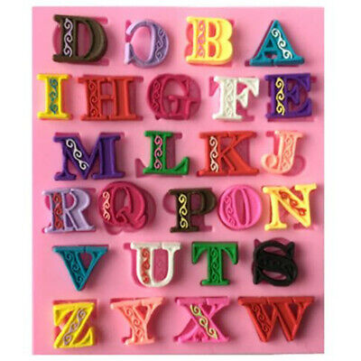 Letter Number Silicone Fondant Mold Cake Decor Chocolate Candy Baking Moulds BS