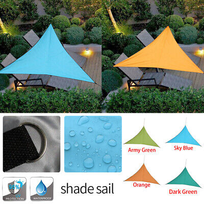 Voile d'Ombrage Protection UV Solaire Waterproof Tendue Parasol Triangulaire SP