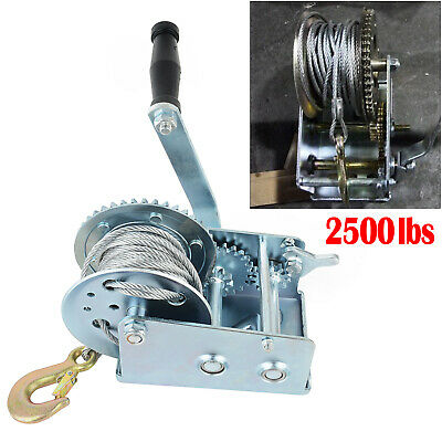 2500LBS Hand winch For Boat, Trailer and 4WD /1136KGS 2-Speed Strap AU Stock