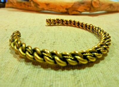 Antique Twisted Brass Viking Bracelet 25.