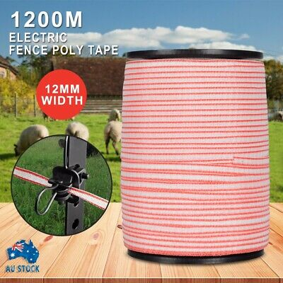 Polytape 1200M Roll Electric Fence Energiser Stainless Steel Poly Tape Insulator