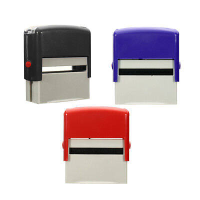 Custom Personalised Self Inking Rubber Stamp Kit Business Name Address DIY D5