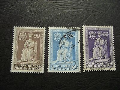 IRELAND (ÉIRE). SET of 3 STAMPS 'HOLY YEAR' (1949) USED