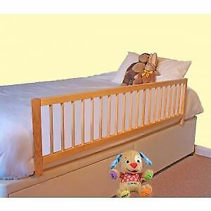 Safetots Wooden Extra Wide Bedrail Safety Bed Rail Bed Guard Natural RETURN