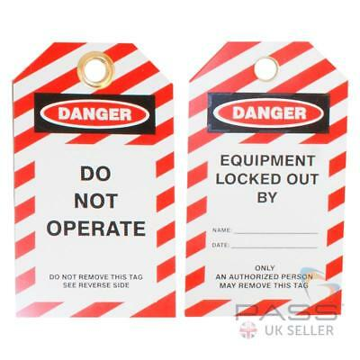 Lockout Tagout Tags - 'Do Not Operate' - Pack of 10