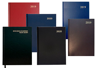 2019 2020 A4/A5, Yearly/Academic, Day a page/Week To View Hard Cover Diary 2018